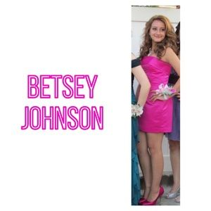 Betsey Johnson Strapless Duchess Mini Dress
